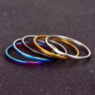 5Pcs Set Fashion Women Girls Multi-Color Stacking Midi Finger Knuckle Rings