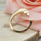 USA Simple Siver Gold Plated Dolphin Shape Opening Adjustable Finger Ring