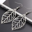 USA Fashion Vintage Charm Bohemian Noble Hollow Leaf Jewelry Pendant Earrings