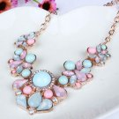 USA Charm Women Pendant Chain Crystal Choker Chunky Statement Bib Necklace New