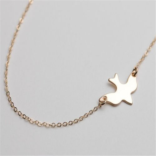 USA New Arrival Peace Dove Necklace Extreme simplicity Gold Choker Necklace