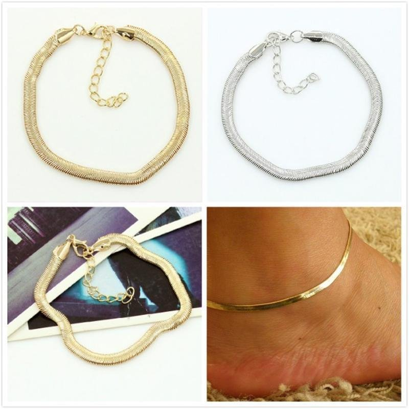 USA Women Sexy Snake Style Anklet Chain Sandal Ankle Bracelet Foot Jewelry