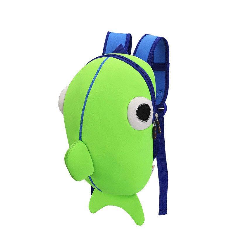 Kids Backpacks For Baby Boys Whale Backpacks School Bags Green