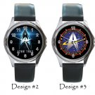 Star Trek Wristwatch Unisex Metal Leather Band Beyond Expectation