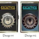 Battlestar Galactica Cigarette Money Case Silver Chrome Birthday Gift Ideas