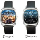 Stargate Atlantis Wristwatch Square Metal Leather Band Unisex Costume