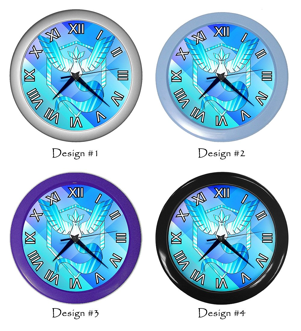 Team Mystic Pokemon Go Clocks Room Wall Decor Birthday Gift Ideas #2