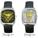 Team Instinct Pokemon Go Wristwatches Costume Square Metal Watch