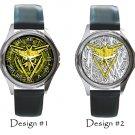Team Instinct Pokemon Go Wristwatches Costume Metal Leather Band Watch