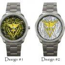 Team Instinct Pokemon Go Wristwatch Costume Sport Metal Watches