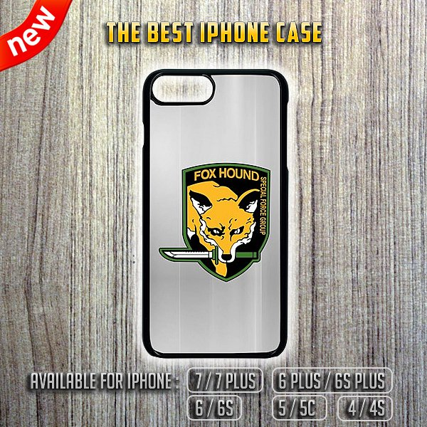 Fox Hound Special Group MGS iPhone 7/7 Plus 6/6S 5/5C 4/4S Case