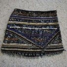 Parker Corsica mini skirt sz 2 beads & sequins silver gold blue black new $374