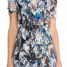 Black Halo Weston dress size 10 black/white/gray lace w/ kaleidoscope print new