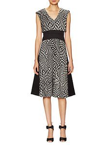 Tracy Reese Modern Malak black dress w/ houndstooth zipper accents sz 2 NWT $378