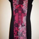 Desigual Womens black baroque print mini dress sz S black/magenta lace print NWT