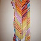 "Natori ""Loren"" multi-color stripe long gown choose size S or M new $125"