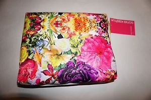 Sonia Kashuk multi-floral beauty organizer 3 piece bright color floral print NWT