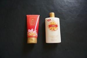 Victoria's Secret Wild Scarlet body scrub 7 oz + body lotion 8.4 oz new