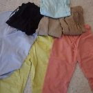 Women's lot of 7 pants sz L/XL casual athletic crop J. Jill + generic brands EUC