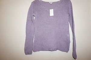 "J Jill woven loose stitch sweater purple ""wild orchid"" size XS will fit sz S NWT"