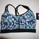 Victoria's Secret knockout front-close sport bra blue green glow-in-dark 32B NWT