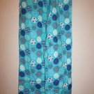 Womens JC Penney flannel pajama pants size S turquoise with geo dots pattern NWT