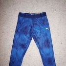 Womens Puma capri tight blue and navy print choose size L or XL NWT
