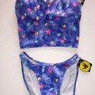 Body Glove tankini XS & bikini size S blue floral NWT