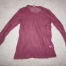"J. Jill women's sweater sz S mohair/wool blend see-through color ""raspberry"" NWT"