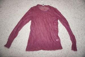 "J. Jill women's sweater sz S mohair/wool blend see-through color ""raspberry"" NWT"