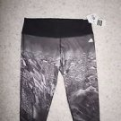 Womens Adidas Performance Tights crop style size XL black gray city print NWT