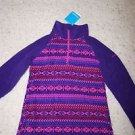 Girls Columbia Glacial Fleece half-zip hyper purple/fairisle print size L NWT