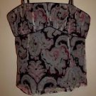 Tocca silk camisole sz 2 black with pink light blue tan ivory pattern EUC