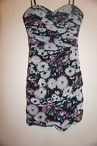 BCBG Max Azria Winnie ruched dress size 4 lavender mist floral print NWT $338