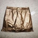 "Rebecca Minkoff bronze metallic leather ""Madge"" mini skirt size 2 NWOT"