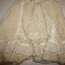 Girls Gunne Sax vintage prairie skirt cream with floral print and lace sz 6 EUC