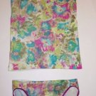 Shimera tank sz S & panty sz L green abstract floral lime green magenta blue NWT