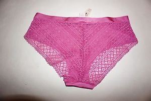 Victoria's Secret hiphugger size M dusty rose color smooth front lace back NWT