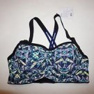 Victoria's Secret Angel sport bra blue green yellow glow-in-dark print 34D NWT