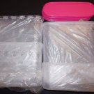 Tupperware Modular Mates super oval set 5 containers with pink seals new