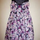 Kimchi Blue cotton dress sz 2 magenta cream pink blue floral EUC