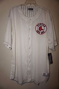 Boston Red Sox baseball jersey sz XL cream with navy stitching Red Sox patch NWT