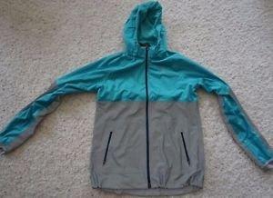 Women's Nike Shield Flash reflective running jacket sz L turquoise gray NWT $350