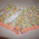Victoria's Secret white yellow pink floral print sleep shorts size XS NWT