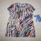 Simply Vera Vera Wang for Kohls multi-color paint streak cotton shirt sz PL NWT