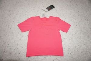 Nike Seamless womens fitted crop workout top short sleeve bright pink size S NWT