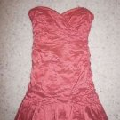 BCBG Max Azria Fleur strapless taffeta cocktail dress sz 12 coral color new $378