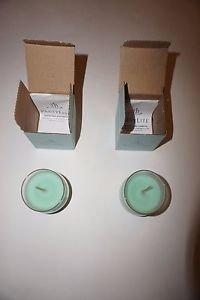 Partylite Bestburn mini barrel jar candles set of 2 Mountain Waters scent NIB