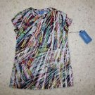 Simply Vera Vera Wang for Kohls multi-color paint streak cotton shirt sz PS NWT