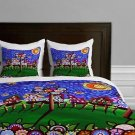 DENY Designs Renie Britenbucher Van Gogh Sky Lightweight Duvet Cover Queen new